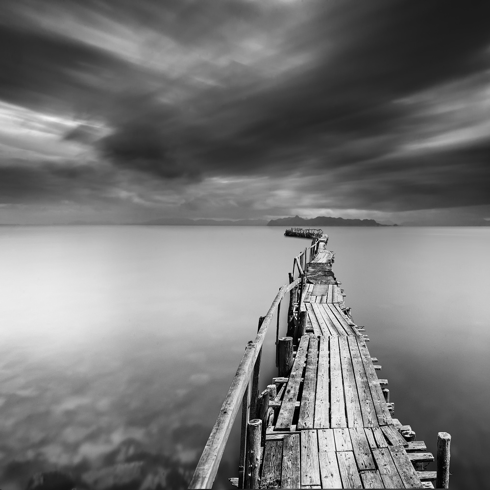 A piece of fine art art photography titled Long Pier by George Digalakis