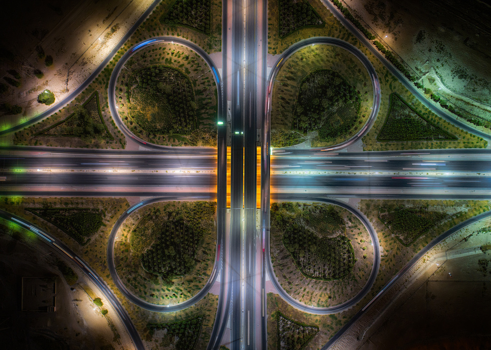 A piece of fine art art photography titled Jahra Road by Faisal ALnomas