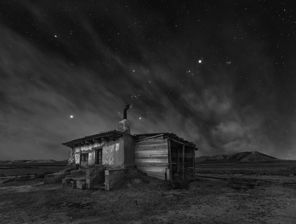 A piece of fine art art photography titled Bardenas Night by Martin Zalba
