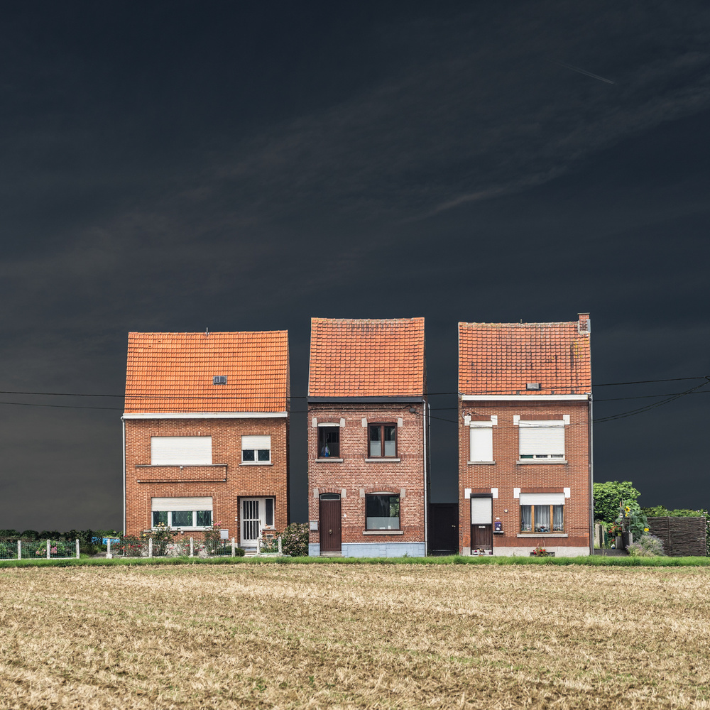 A piece of fine art art photography titled Neighbours by Luc Vangindertael (laGrange)
