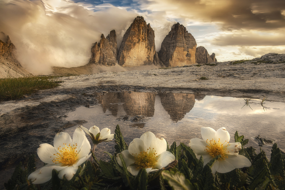 A piece of fine art art photography titled Tre Cime Di Lavaredo, Always Great Emotions! by Alberto Ghizzi Panizza
