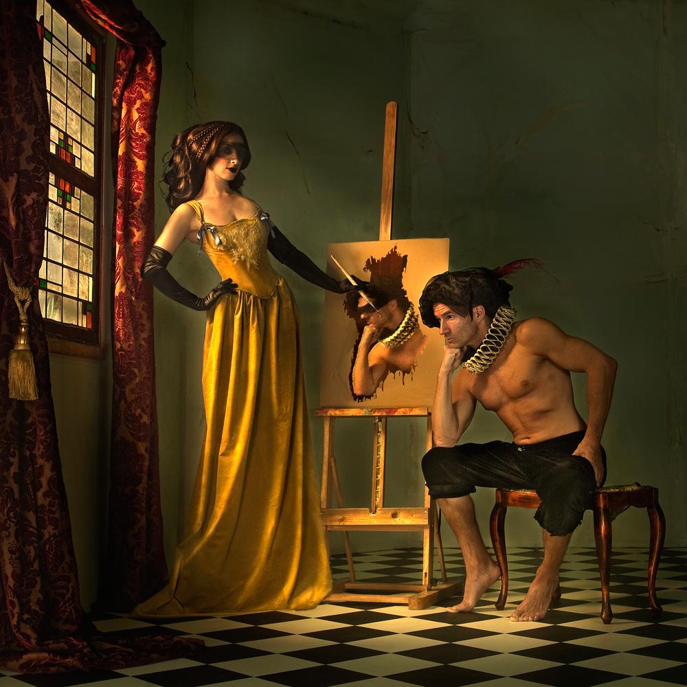 A piece of fine art art photography titled Painter by Peter Kemp