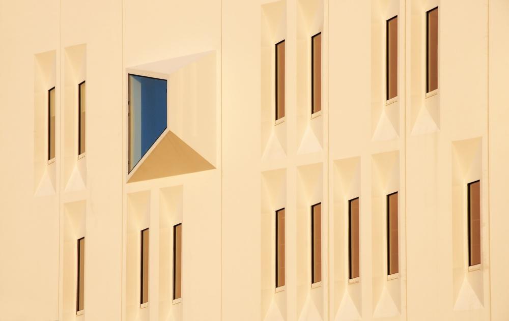 A piece of fine art art photography titled Blue Window by Lou Urlings