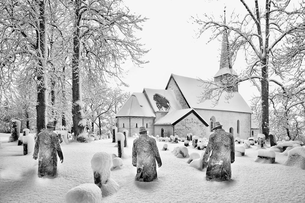 A piece of fine art art photography titled Frozen Games by The Jar - Geir Jartveit