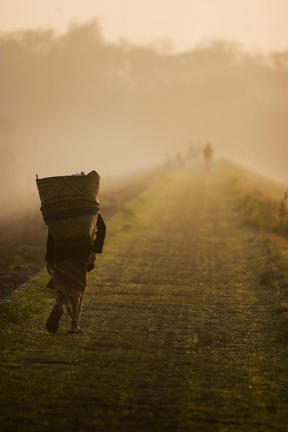 A piece of fine art art photography titled Life Burden by Rusdi Sanad
