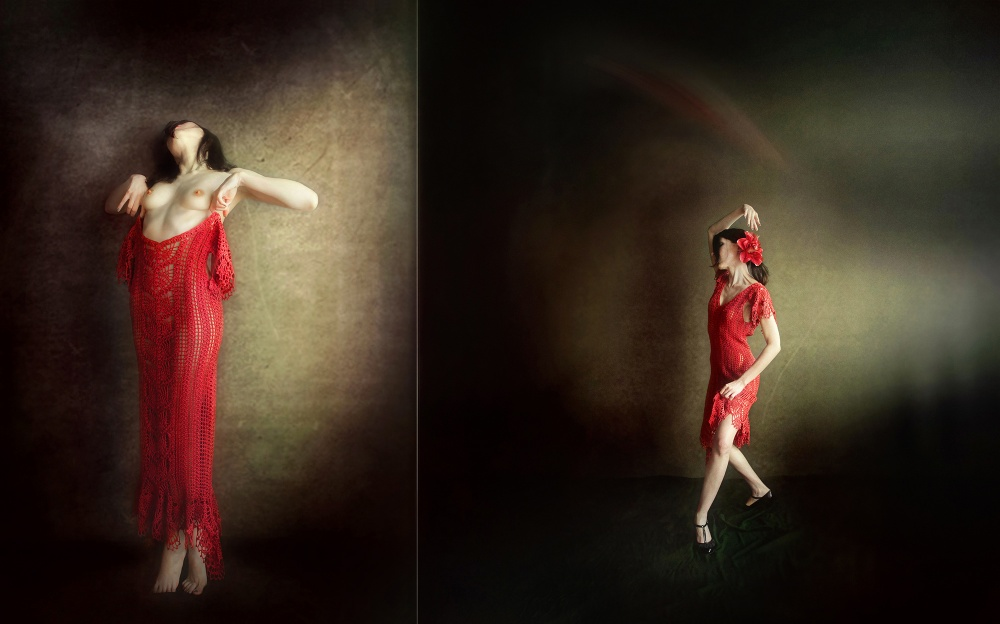 A piece of fine art art photography titled Dancing My Pureness to Passion by Ivaylo and Teodora
