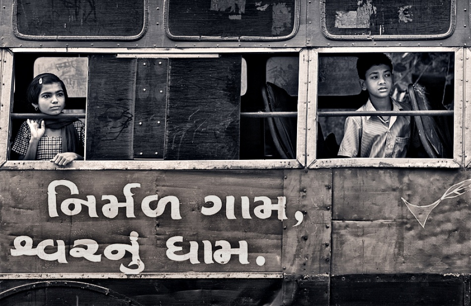A piece of fine art art photography titled Our School Bus by Prateek Dubey