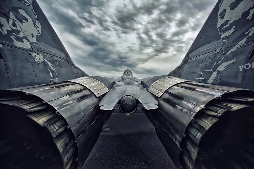 A piece of fine art art photography titled MiG-29 Fulcrum by Mieczyslaw Orwat