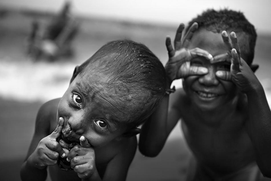 A piece of fine art art photography titled Fisherman's Children by Mitchell Kanashkevich