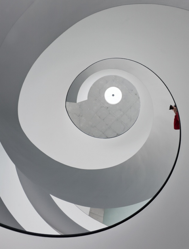 A piece of fine art art photography titled Photographing Stairs by Henrik Spranz
