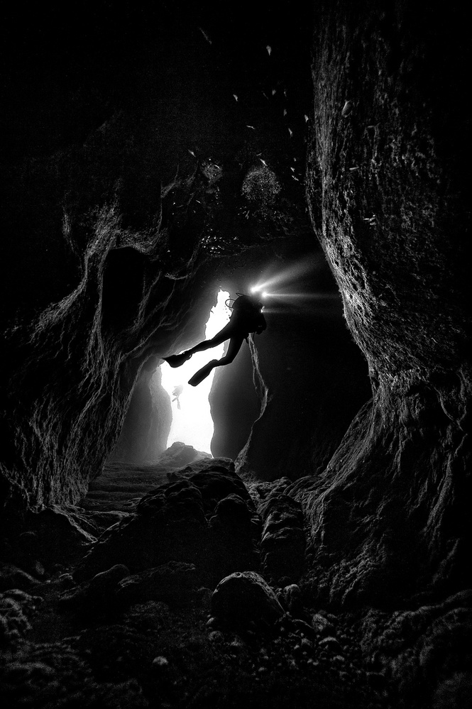 A piece of fine art art photography titled Cave In by murad halimoglu