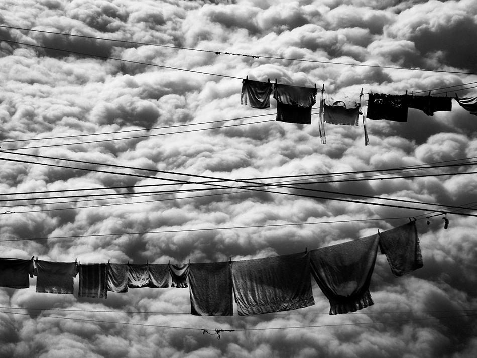 A piece of fine art art photography titled Laundry Day by Frank Daske