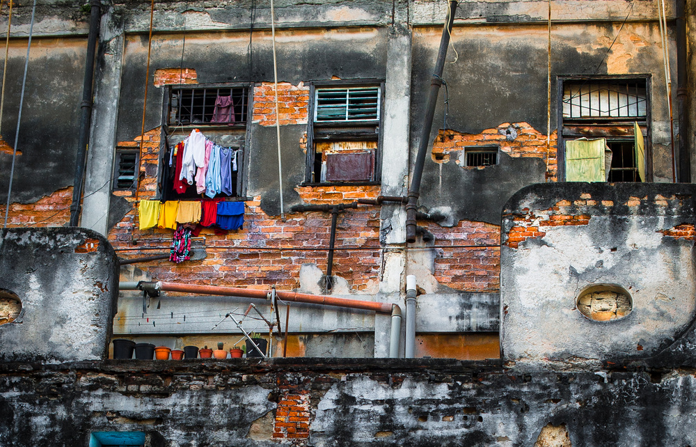 A piece of fine art art photography titled Drying Rack - Havana by Jean-Luc BESSON