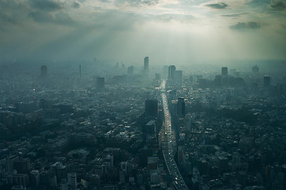 A piece of fine art art photography titled Tokyo Blues by Kim Erlandsen