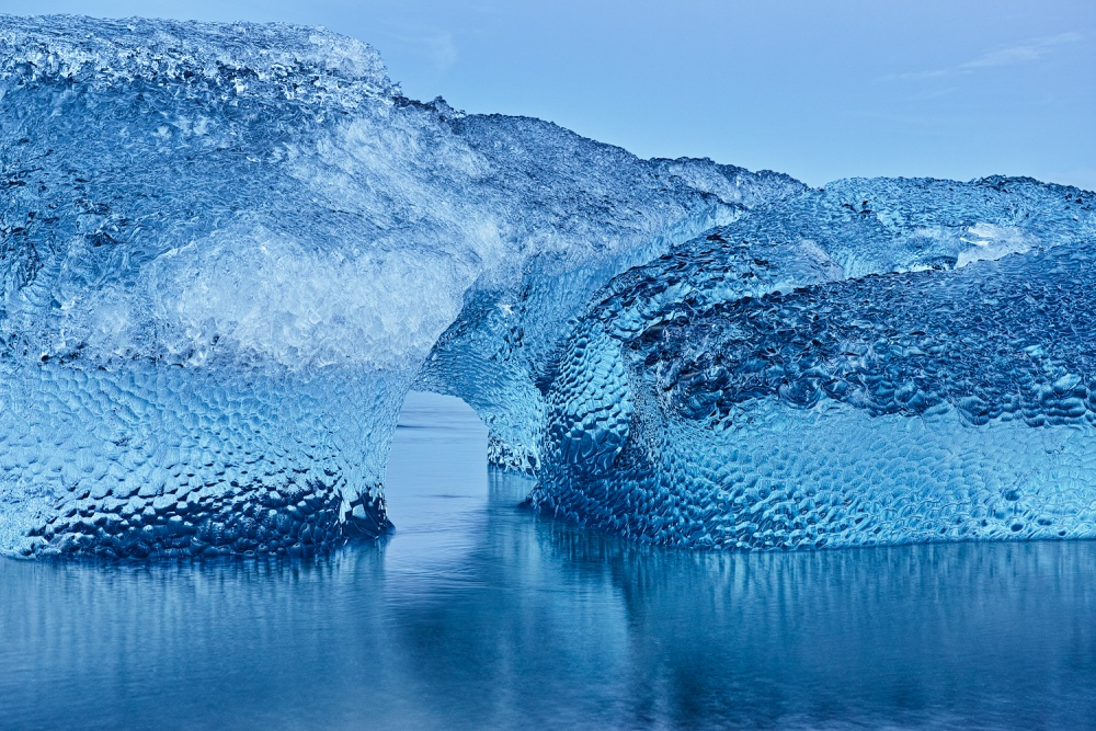 A piece of fine art art photography titled Blue Ice by Mark James Ford