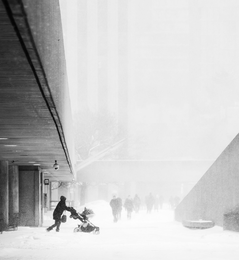 View this piece of fine art photography titled Into the Snow by Chongrong Jia