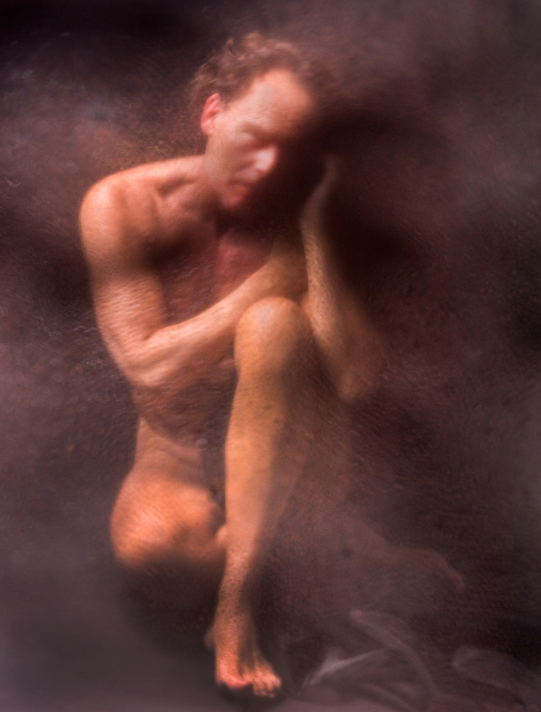 A piece of fine art art photography titled The Thinker by Edith Hoffman