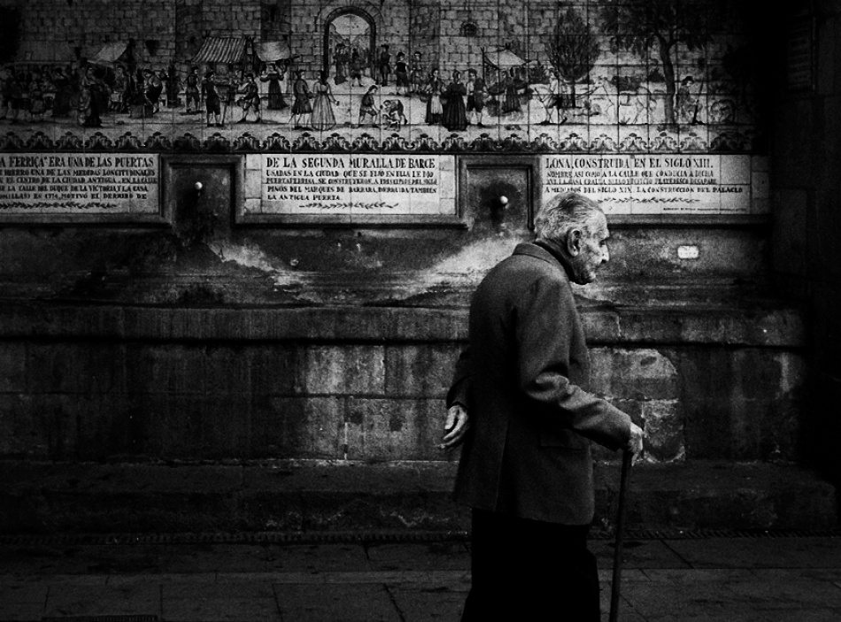 A piece of fine art art photography titled Old Man Walking by Andre du Plessis FRPS