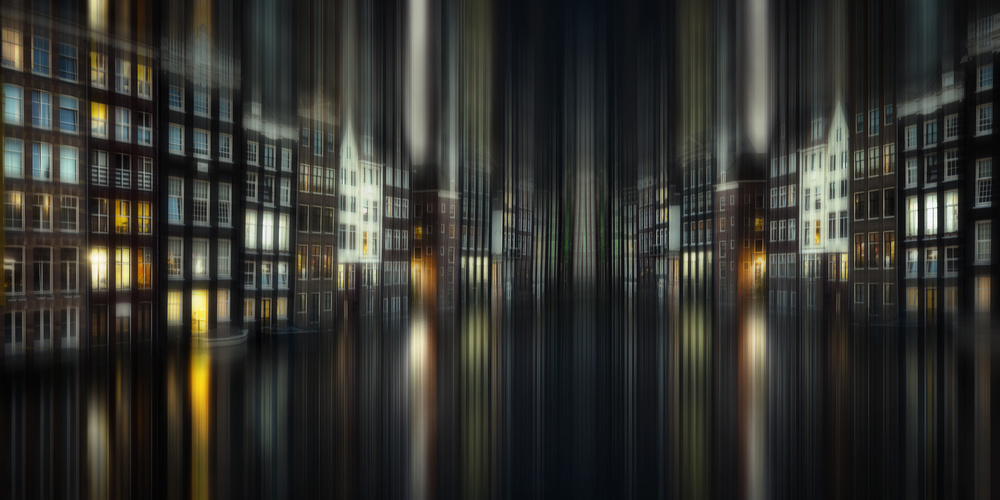 A piece of fine art art photography titled Amsterdam by Night by aRRO