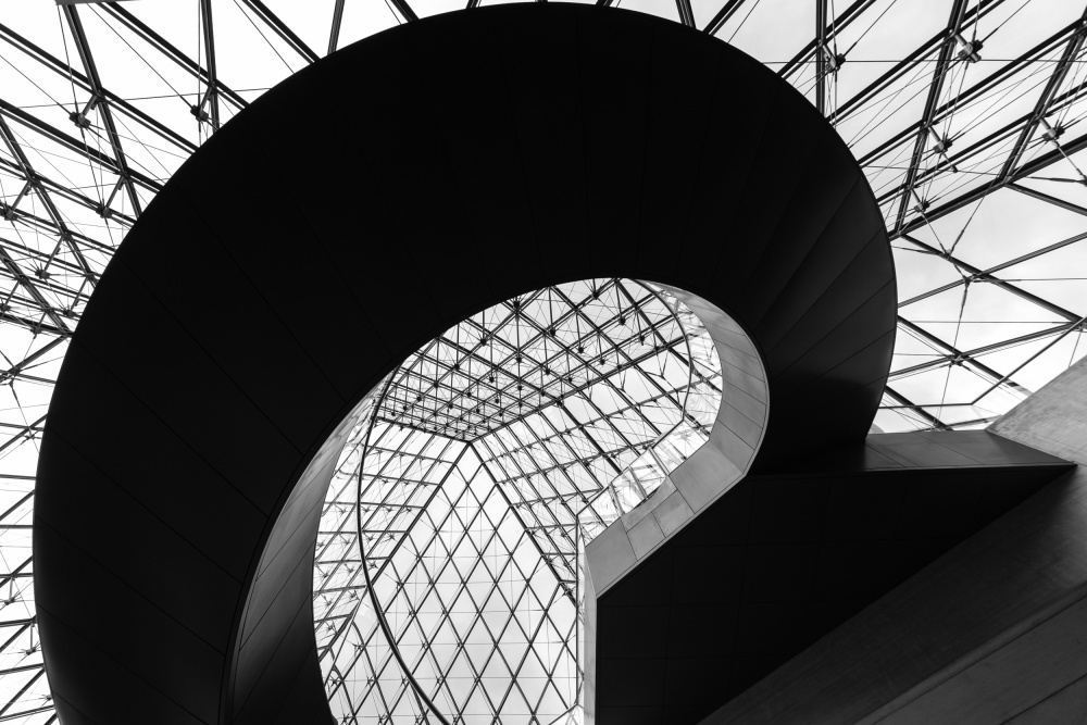A piece of fine art art photography titled Pyramid Stair by franco farinati