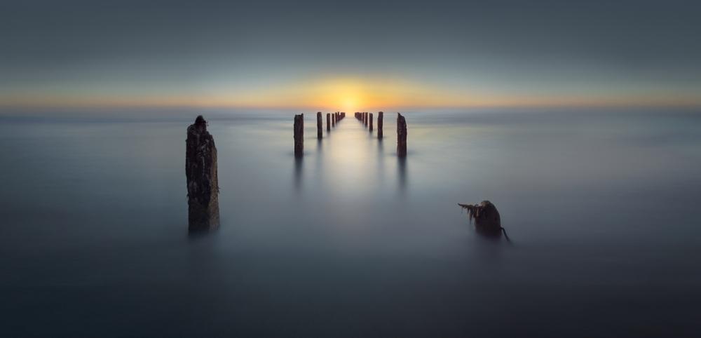 A piece of fine art art photography titled Last Light by Nadav Jonas
