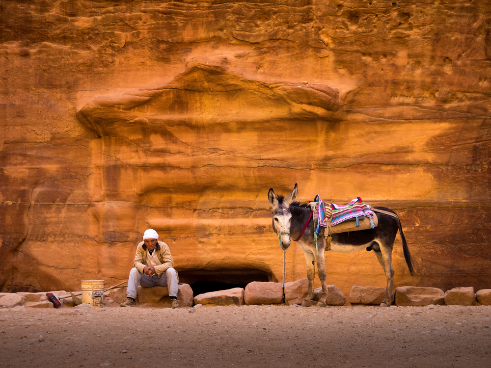 A piece of fine art art photography titled Petra Workers by EMY