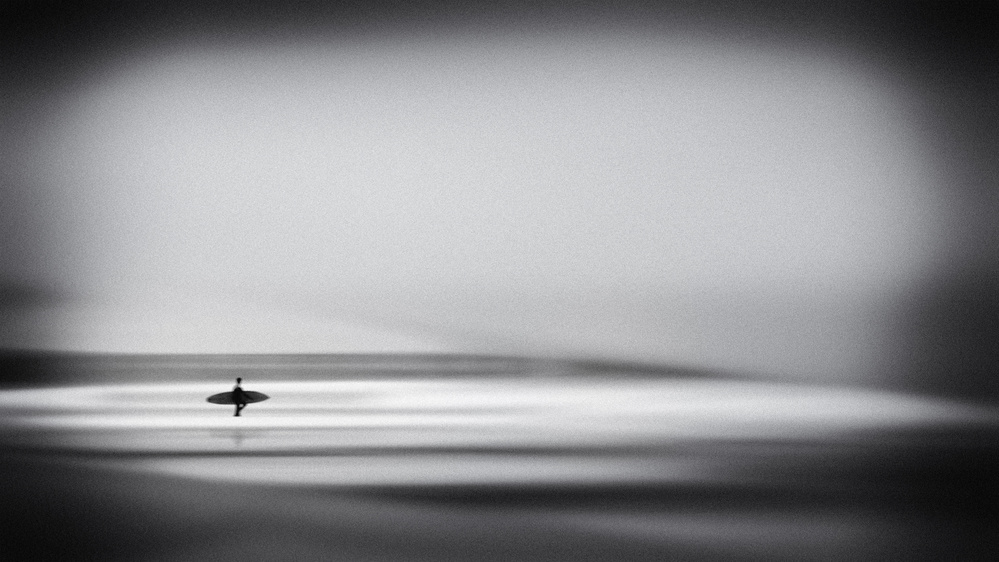 A piece of fine art art photography titled The Surfer by Ina Tänzer