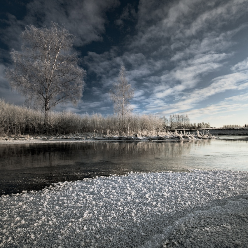 A piece of fine art art photography titled Winter Day by Tero Tielinen