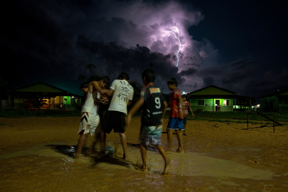 A piece of fine art art photography titled Football On Thunder by Daniel Rodrigues