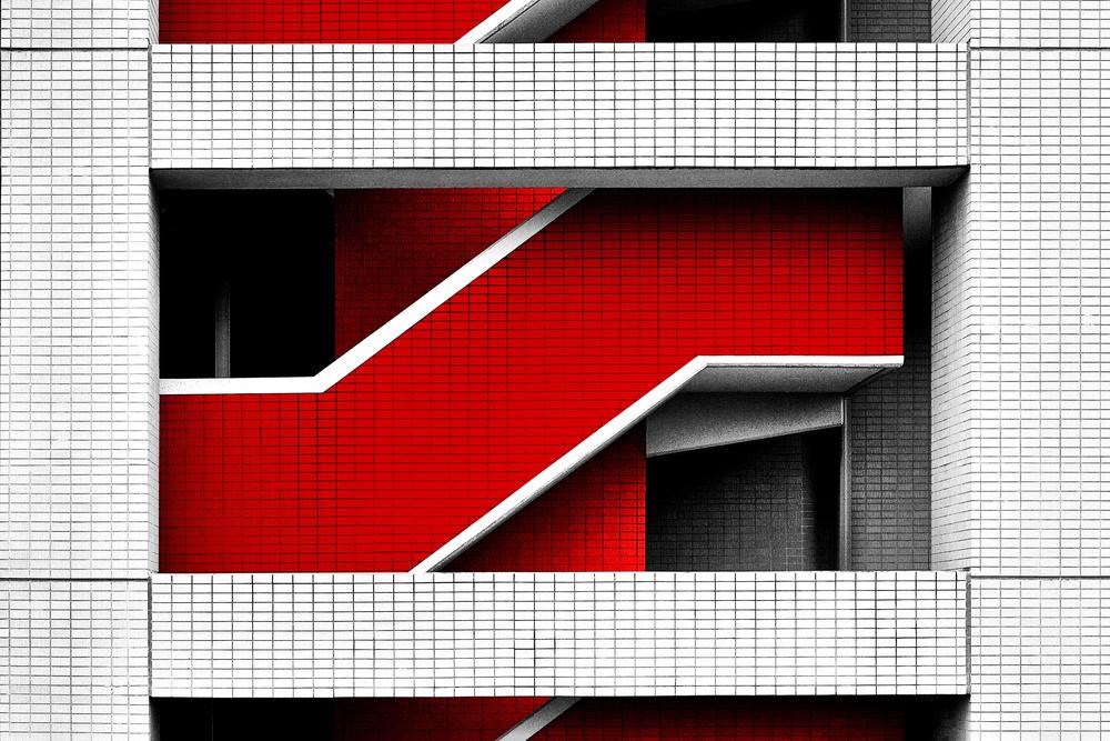 A piece of fine art art photography titled Saitama-Shintoshin Building by Gary E. Karcz
