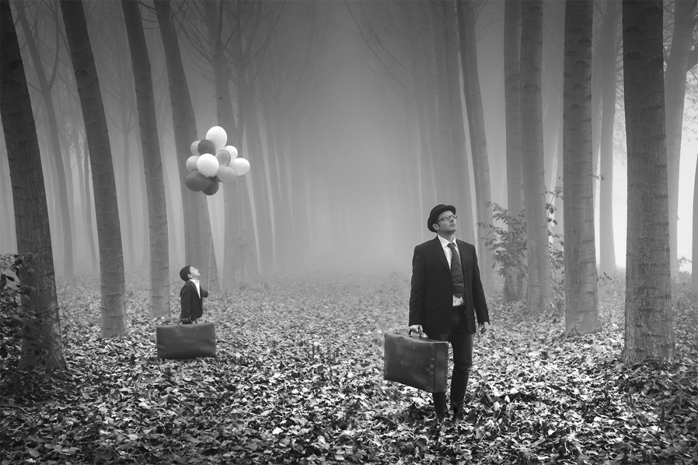 A piece of fine art art photography titled The Child Is Grown, the Dream Is Gone by LEONARDO BONIOTTO
