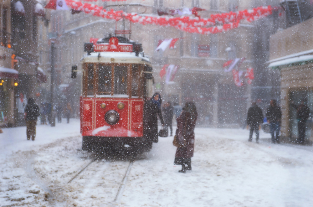 A piece of fine art art photography titled Snowy Day at  Istanbul by adnan tunçbilek