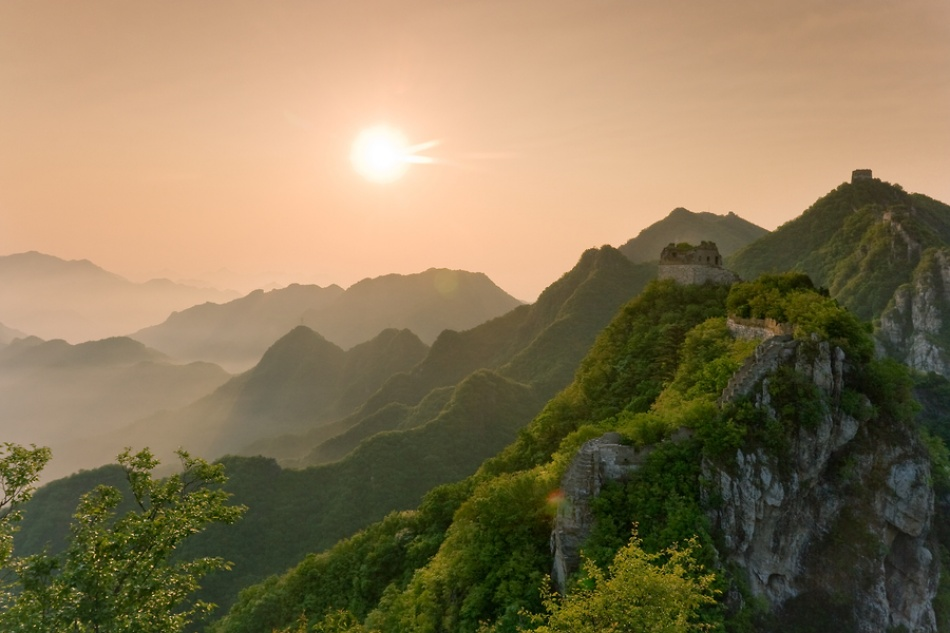 A piece of fine art art photography titled The Great Wall at Sunrise by Danny Xu