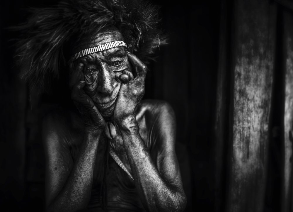 A piece of fine art art photography titled Disable by Adichandra38