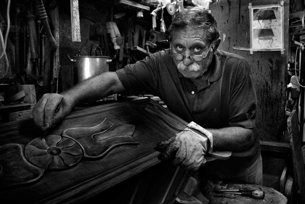 A piece of fine art art photography titled Mr Francesco During the Cleanup Phase by Antonio Grambone