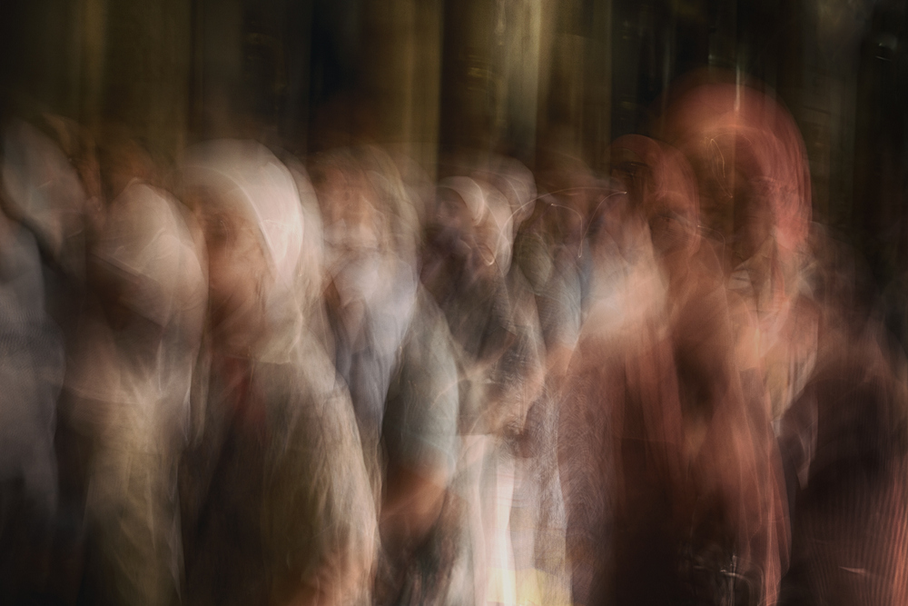 A piece of fine art art photography titled Passengers In Time by Fadwa Rouhana