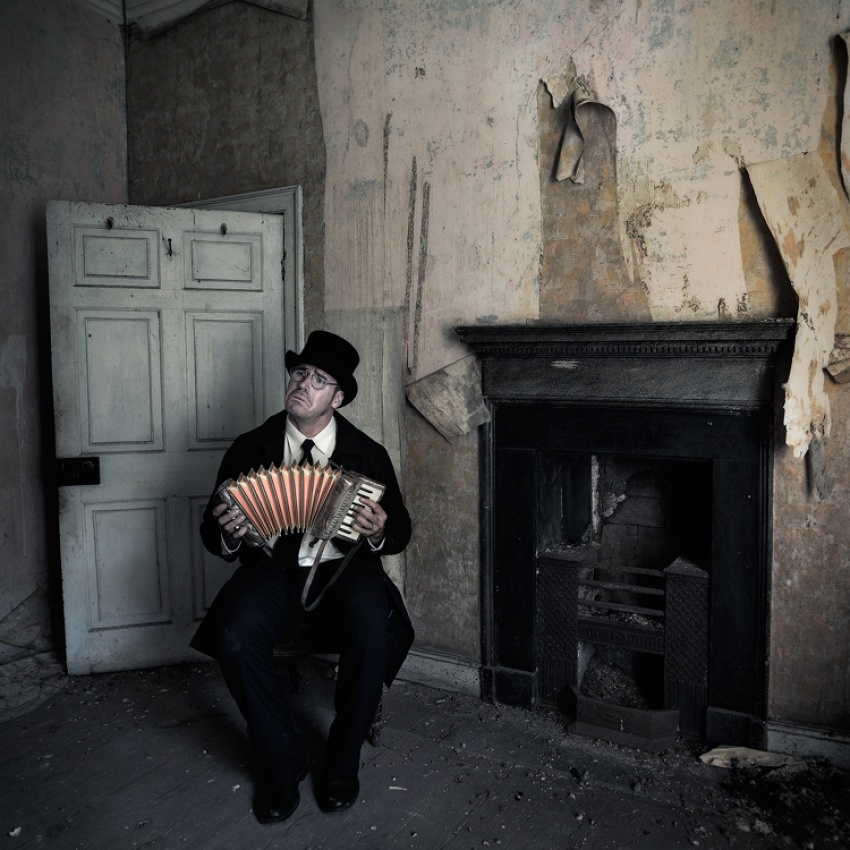 A piece of fine art art photography titled The Lugubrious Player by Ian Munro