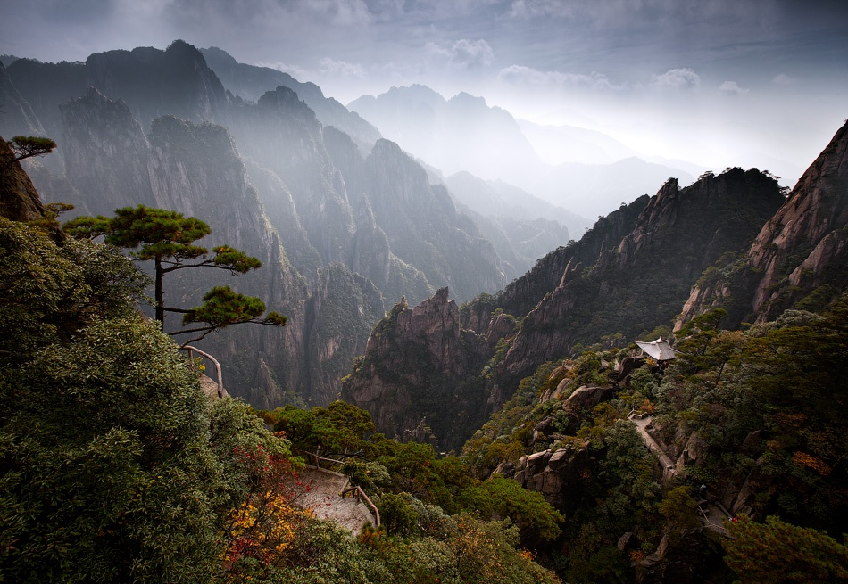 A piece of fine art art photography titled Huangshan Mountain by Michail Vorobyev