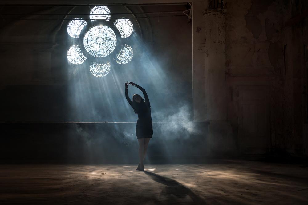 A piece of fine art art photography titled Dancing Through the Mist  by Ronald Geisler