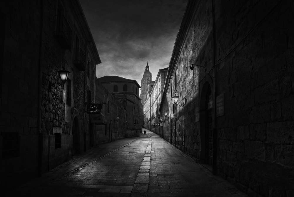 A piece of fine art art photography titled A Street In Salamanca by Jose C. Lobato