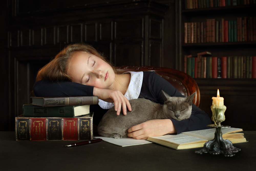 Dreams in the old library
