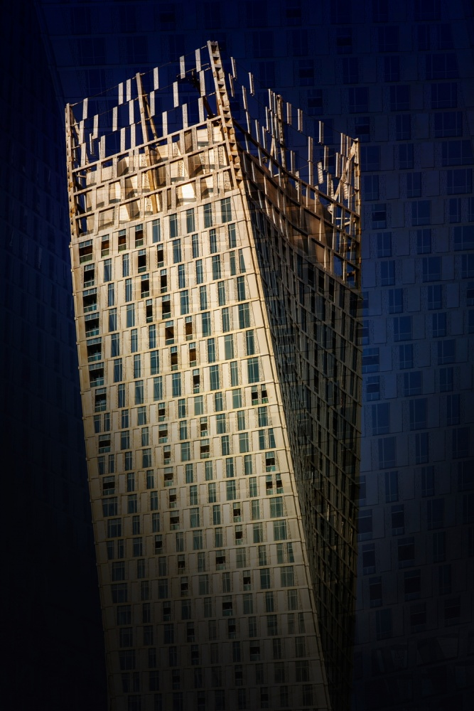 A piece of fine art art photography titled Cayan Tower by Erhard Batzdorf