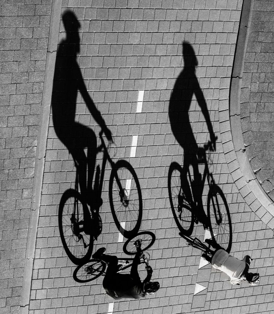 A piece of fine art art photography titled Moving Shadows by Roelof de Hoog