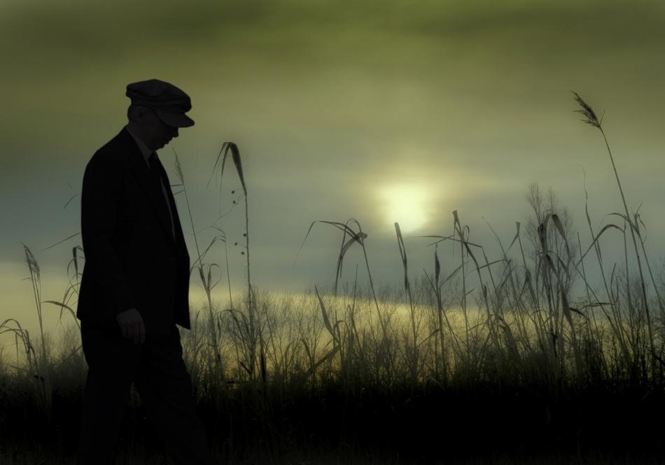 A piece of fine art art photography titled Late Autumn Walk by Ben Goossens