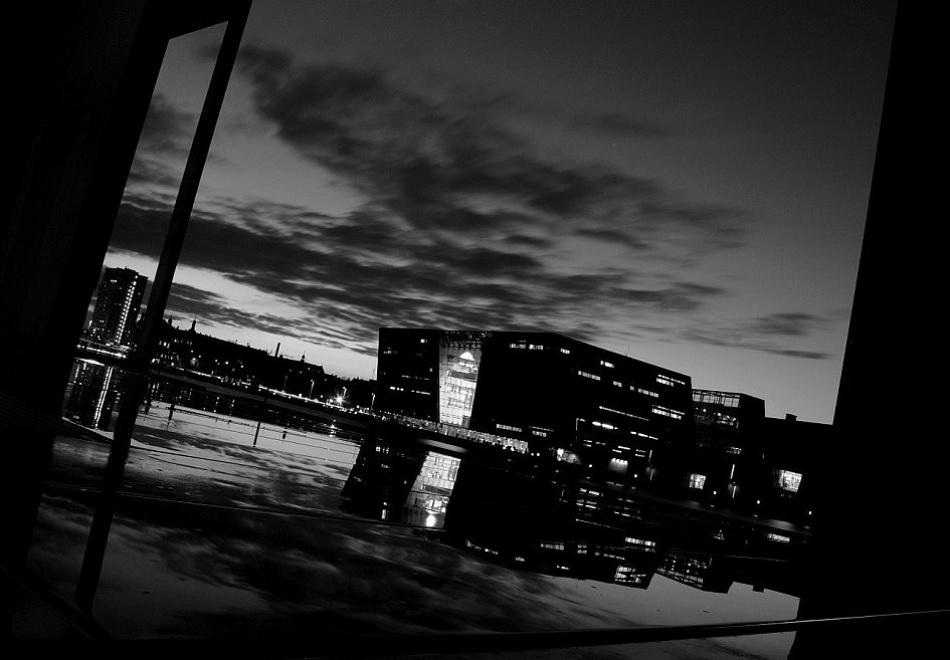 A piece of fine art art photography titled Urban Reflection by Dan Clausen Hansen