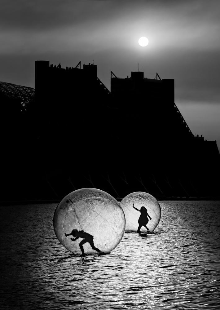 A piece of fine art art photography titled Games In a Bubble by Juan Luis Duran