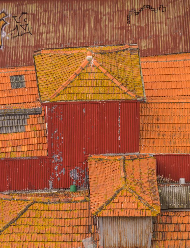 A piece of fine art art photography titled Rooftops of Porto by Joshua Raif