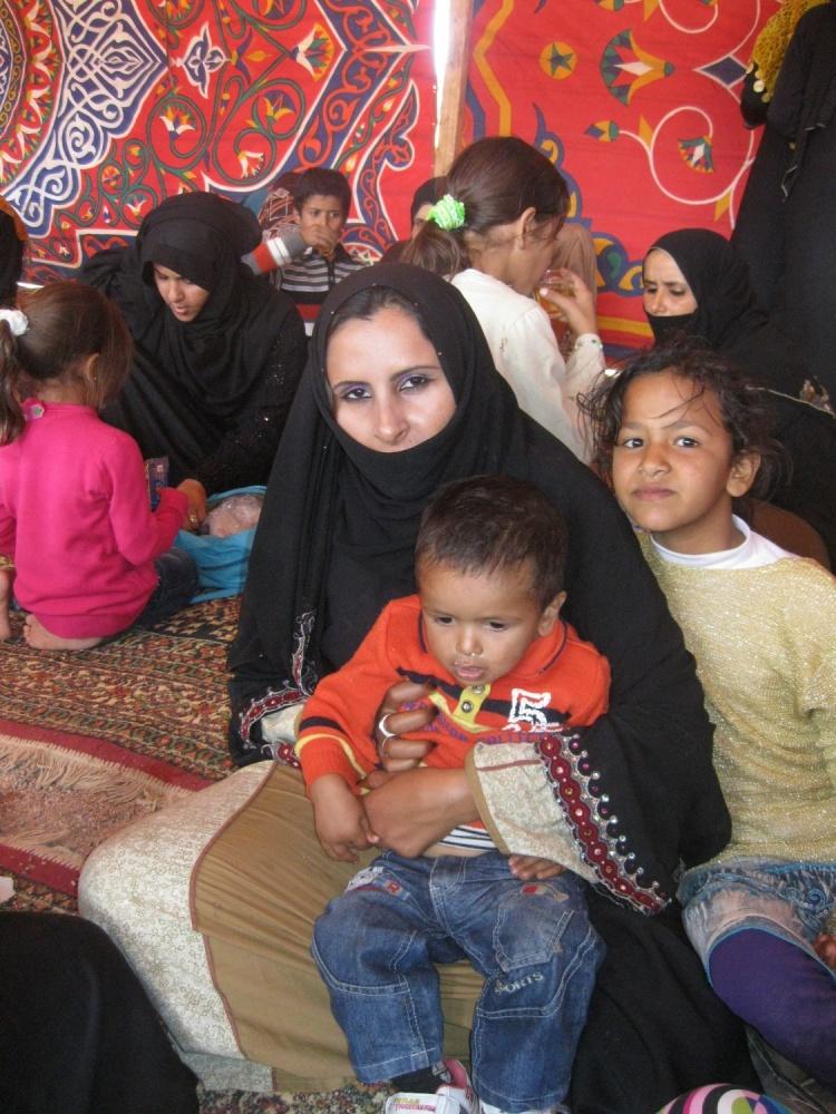 Bedouin women and children, Egypt