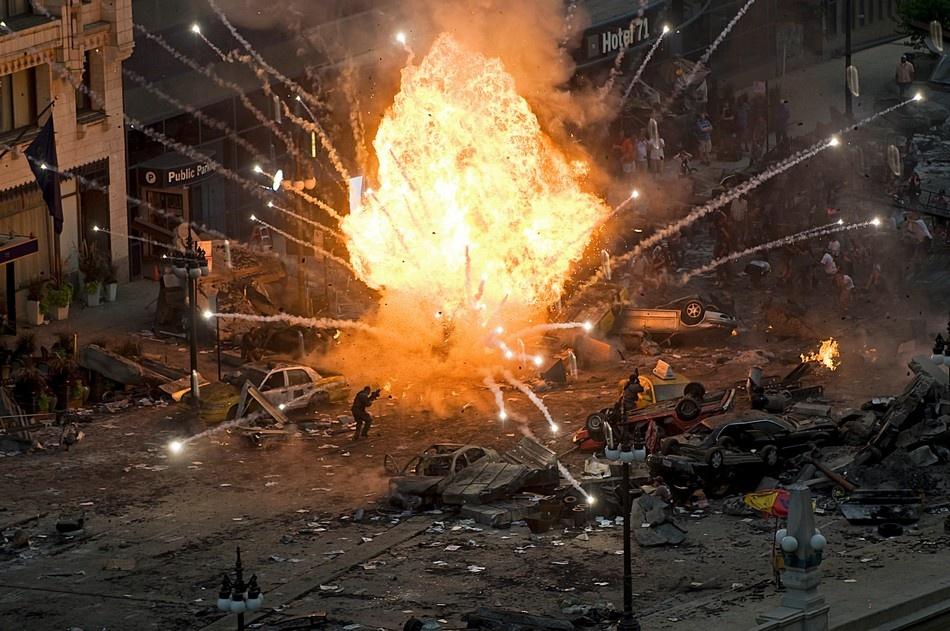 A piece of fine art art photography titled Urban Battlefield by Jason Lewis