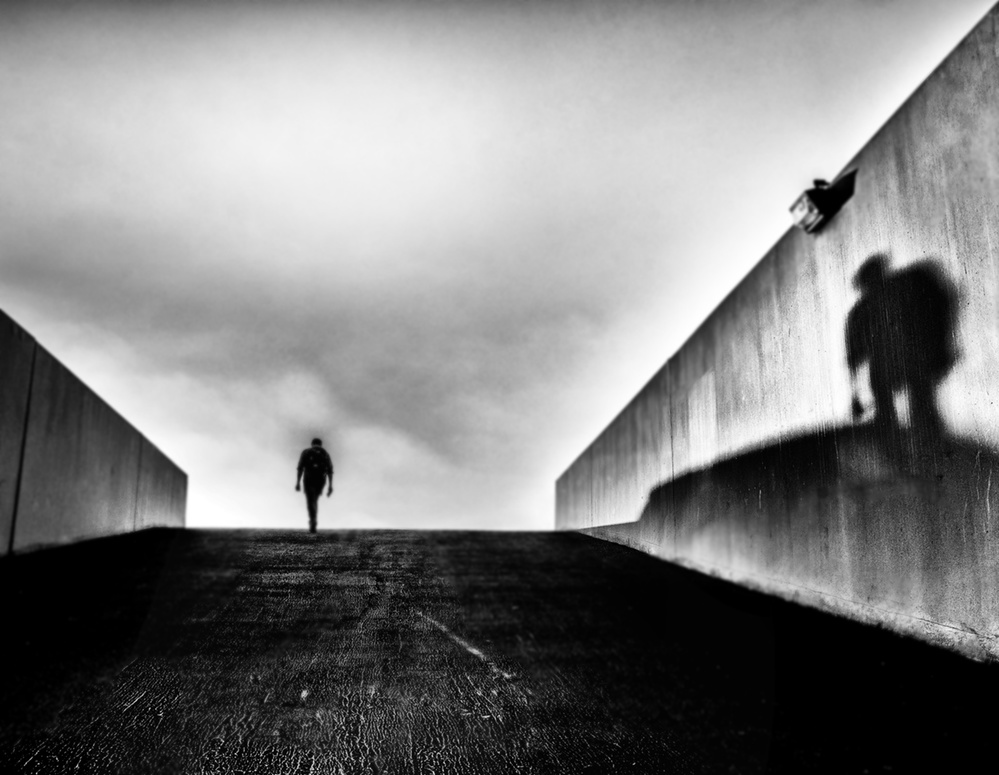 A piece of fine art art photography titled Not Alone by Tina Kim